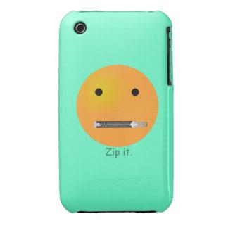 Relampagúelo Emoticon sonriente de la cara Funda Para iPhone 3 De Case-Mate