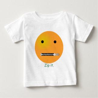 Relampagúelo Emoticon sonriente de la cara Playera De Bebé