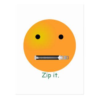 Relampagúelo Emoticon sonriente de la cara Postales