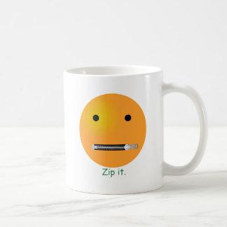Relampagúelo Emoticon sonriente de la cara Taza De Café