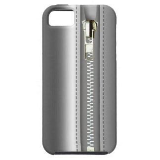 Relampagúelo encima del cuero de plata funda para iPhone SE/5/5s