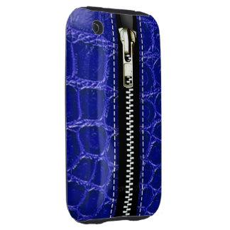 Relampagúelo encima del plástico duro del cocodril iPhone 3 tough carcasa