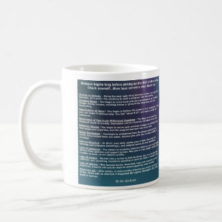 Relapse behavior checklist coffee mug