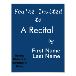 related to overprotective sibling.png 4.25x5.5 paper invitation card