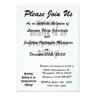 related to overprotective sibling.png 5x7 paper invitation card