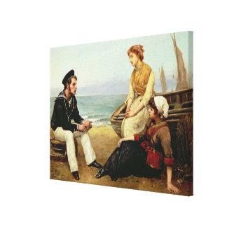 Relating his Adventures, 1881 Canvas Print