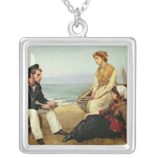 Relating his Adventures, 1881 Silver Plated Necklace