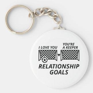 Relationship Goals Keychain