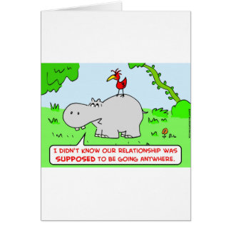 relationship going anywhere hippo bird greeting card