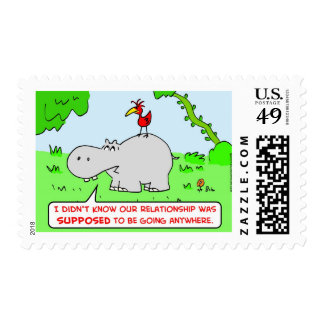 relationship going anywhere hippo bird postage