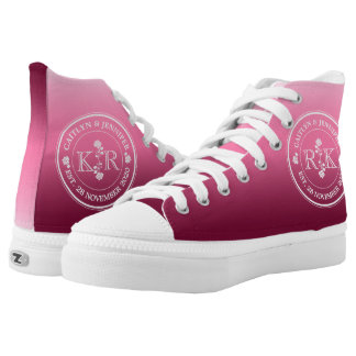 Relationship of Equals Monogram Rose Pink Ombre High-Top Sneakers