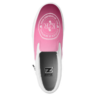 Relationship of Equals Monogram Rose Pink Ombre Slip-On Sneakers