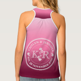 Relationship of Equals Monogram Rose Pink Ombre Tank Top