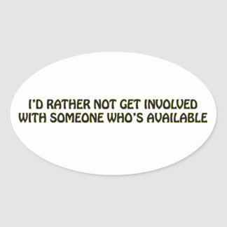 RELATIONSHIP OVAL STICKER