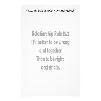 relationship rule 15.2 better to be wrong stationery