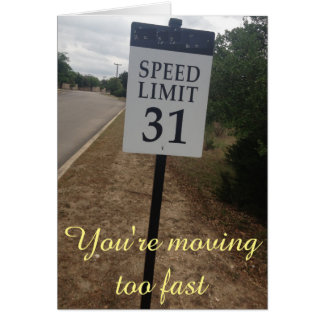 Relationship speed limit card
