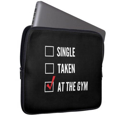 Relationship Status Gym Computer Sleeve