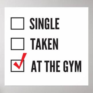 Relationship Status Gym Poster