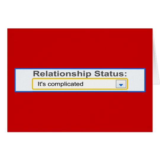 Relationship Status It's Complicated Design Card