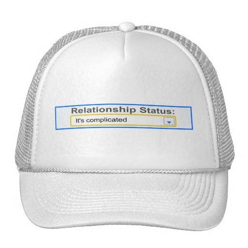 Relationship Status It's Complicated Design Trucker Hat