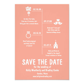 wedding timeline invitations & announcements | zazzle, Wedding invitations