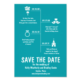 Relationship Timeline Save the Date Personalized Invitation