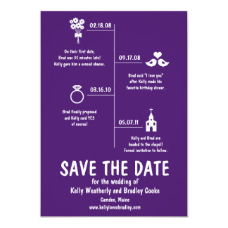 Relationship Timeline Save the Date Personalized Announcement