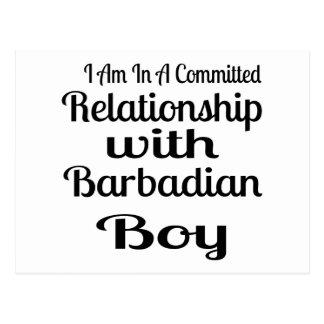 Relationship With Barbadian Boy Postcard