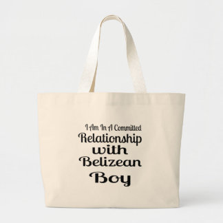 Relationship With Belizean Boy Large Tote Bag