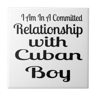 Relationship With Cuban Boy Ceramic Tile