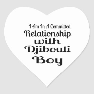 Relationship With Djibouti Boy Heart Sticker