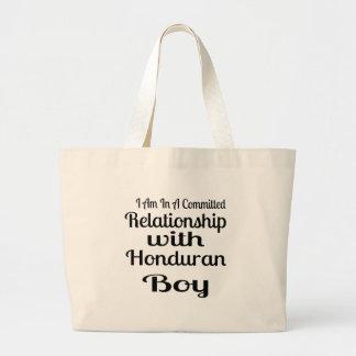 Relationship With Honduran Boy Large Tote Bag