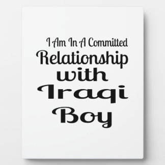 Relationship With Iraqi Boy Plaque
