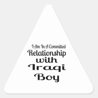 Relationship With Iraqi Boy Triangle Sticker