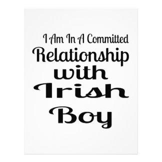 Relationship With Irish Boy Letterhead
