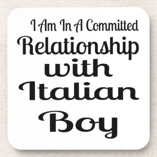 Relationship With Italian Boy Drink Coaster