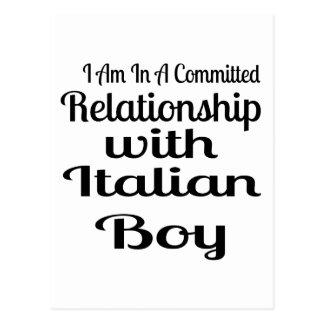 Relationship With Italian Boy Postcard