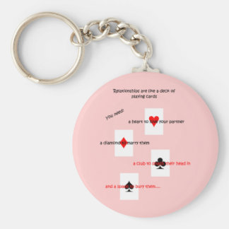 'Relationships are like a deck of playing cards..' Basic Round Button Keychain