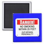 Relationships, Habits, No-Smoking Refrigerator Magnet