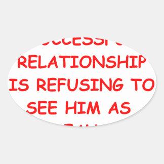 relationships oval sticker