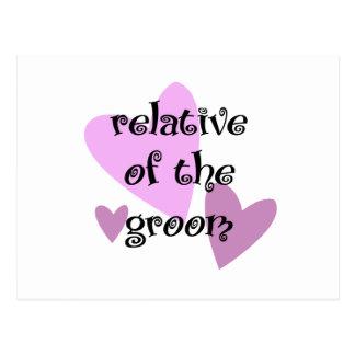 Relative of the Groom Postcard