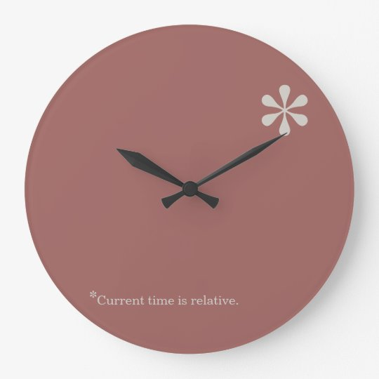 Relative Time Asterisk clock template