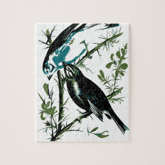 Relative Wild Birds Swaysland Linnets woodcut Inte Puzzle