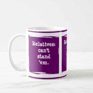 Relatives. . . customize the humor! classic white coffee mug