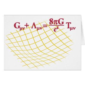 Relatividad general tarjeta de felicitación
