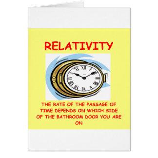 relatividad tarjeta de felicitación