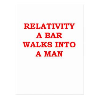 RELATIVITY POSTCARD