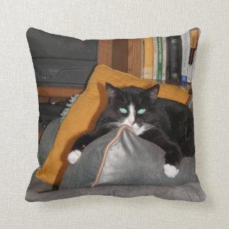 Relax  A Cat Throw Pillow