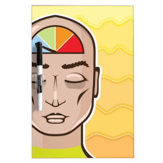 Relax Alert gauge meditating person Dry-Erase Board