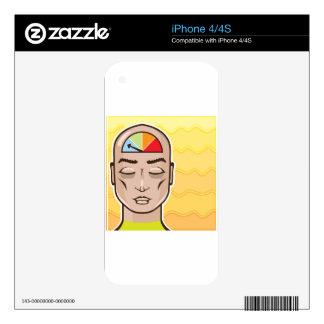 Relax Alert gauge meditating person iPhone 4S Skins